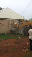 Photos: CEO of Breeze FM says Nasarawa State Govt demolished the private radio station after they aired report on ongoing Labour strike
