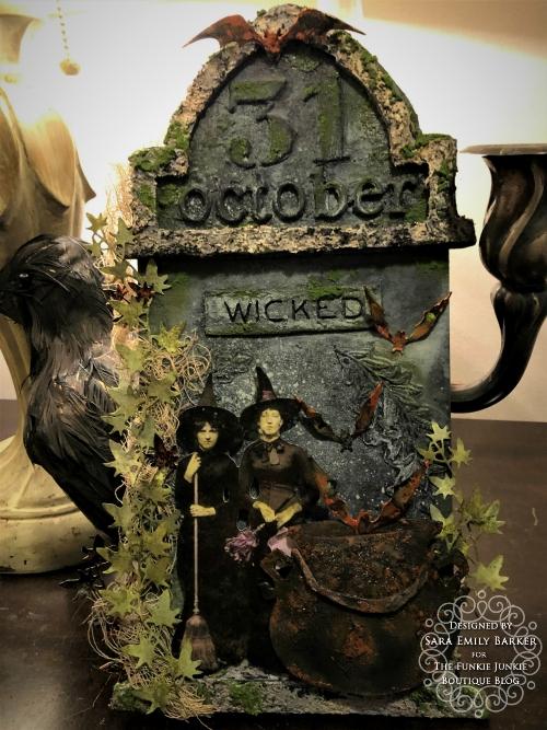 Sara Emily Barker https://sarascloset1.blogspot.com/2019/10/october-31-tombstone-for-funkie-junkie.html Tombstone Etcetera Tag 2