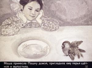 """Краткое содержание """"Растрепанный воробей"""", краткий пересказ, сказка в сокращении   К. Паустовский"""