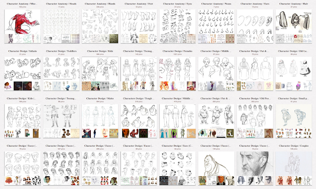Character Design Ual : Muddy colors inspiration reference