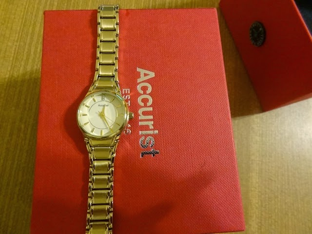 Accurist LB1864W ladies bracelet gold plated watch