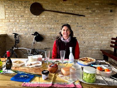 French Village Diaries covid-19 Christmas picnic lunch La Faye Charente