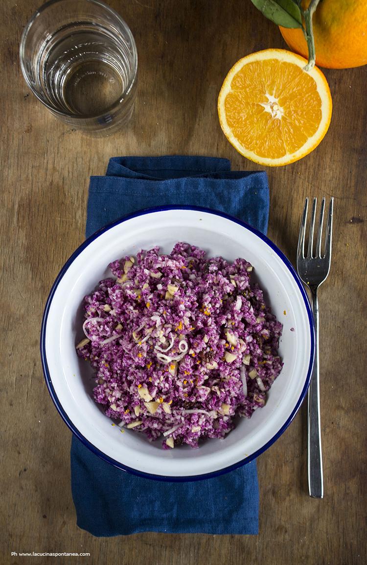 15 minuti in cucina cous cous di cavolfiore violetto la for Cucinare cous cous