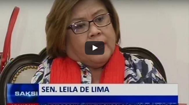 "De Lima ""Si Duterte ang tunay na mastermind na ipapatay si Jaybee Sebastian"""