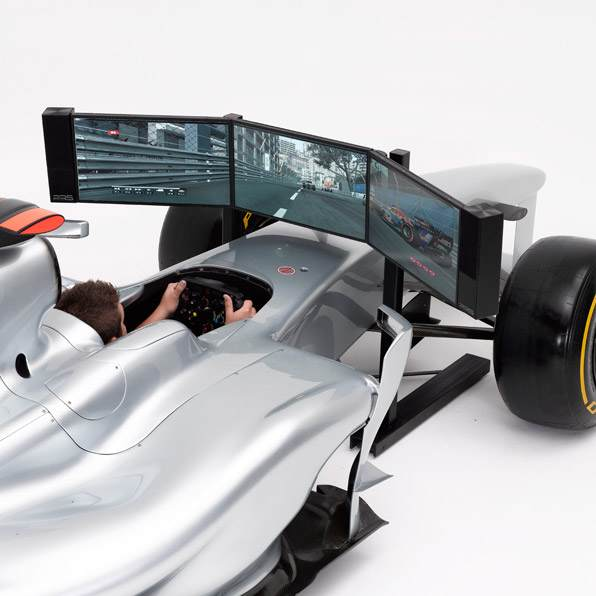 Cool Car Gifts For Guys: FORMULA 1 FULL SIZE RACING SIMULATOR