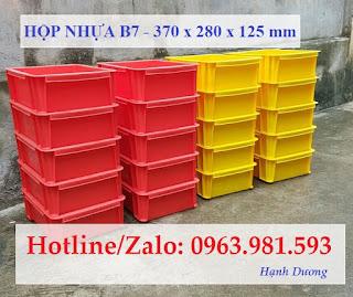 Hộp nhựa B7, thùng nhựa đặc B7, khay nhựa B7, sóng nhựa bít