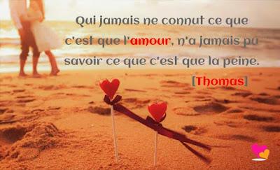 La peine et l'amour d'après Thomas.