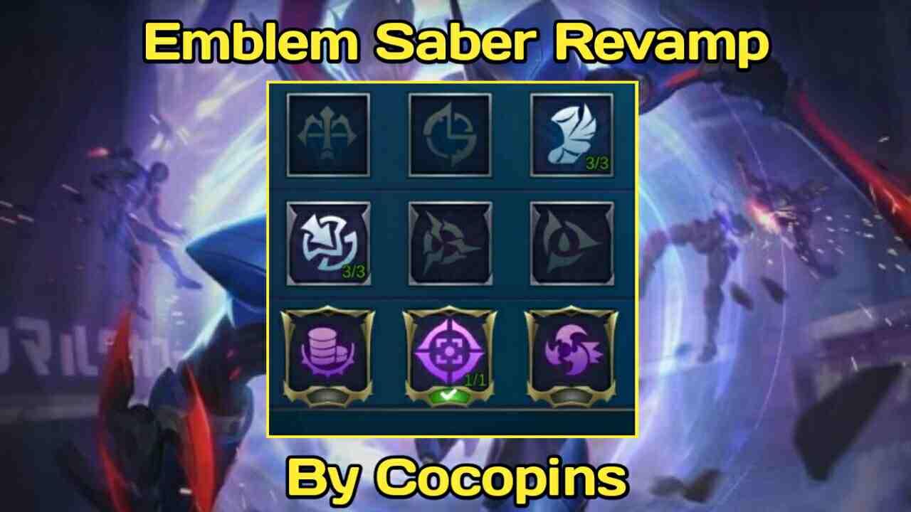 Saber revision.  emblem