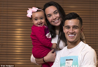Coutinho And his wife Aine with kid