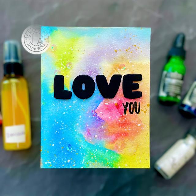 Cardbomb, Hero Arts, My Monthly Hero August 2021,watercolor,cards, cardmaking, handmade, diy, crafty, creative, ink, paper, papercraft, love, galaxy background,video tutorial,