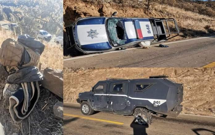 Sicarios emboscan y matan a 4 Policías en Temósachic; Chihuahua otros 7 elementos fueron heridos