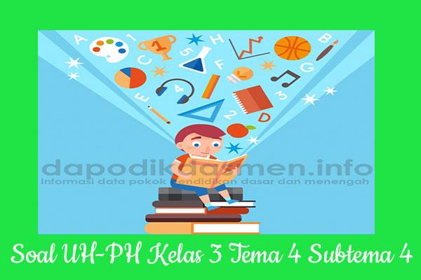 Soal UH PH Kelas 3 Tema 4 Subtema 4 Kurikulum 2013