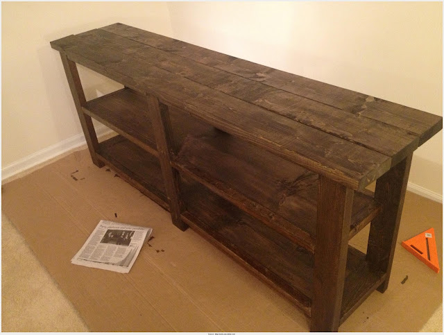 Incredible Rustic Console Table Picture