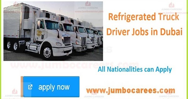 refrigerated truck driver jobs in dubai