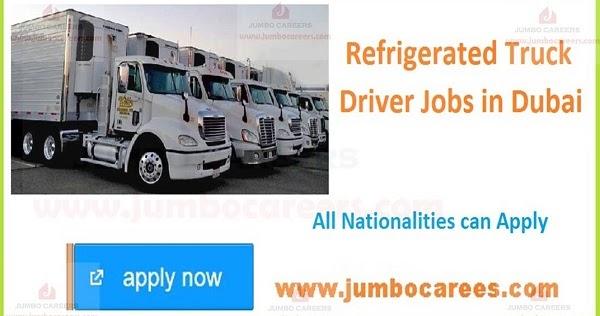 refrigerated truck driver jobs in dubai