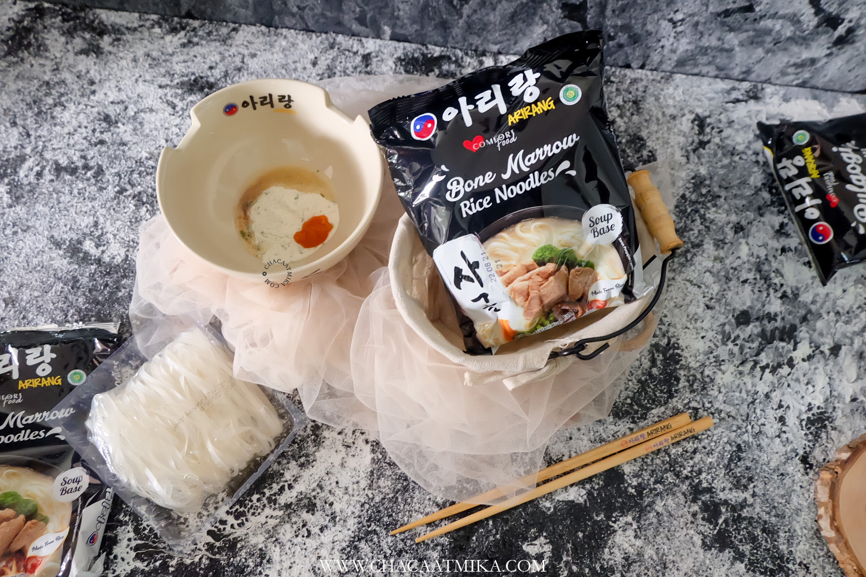 Review Mie Arirang Bone Marrow Rice Noodles