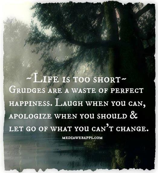 Life Is Too Short Grudges Are A Waste Of Perfect Happines