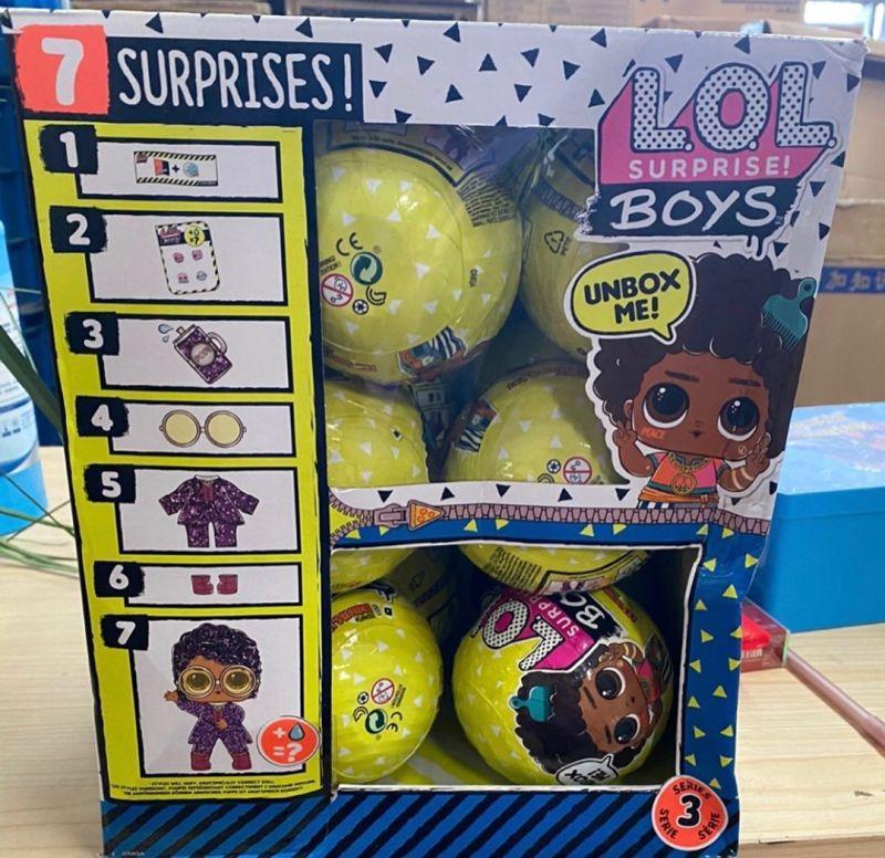 Желтые шары с мальчиками L.O.L. Surprise Boys серия 3