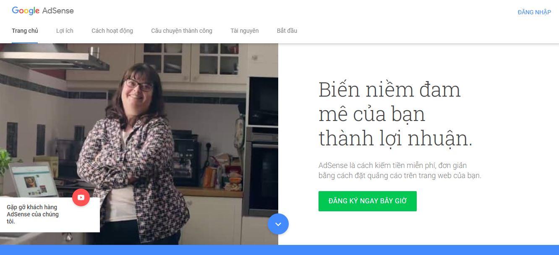 Hướng dẫn kiếm tiền từ google adsense content