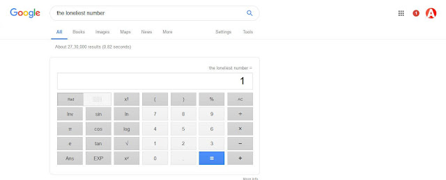 the loneliest number google trick