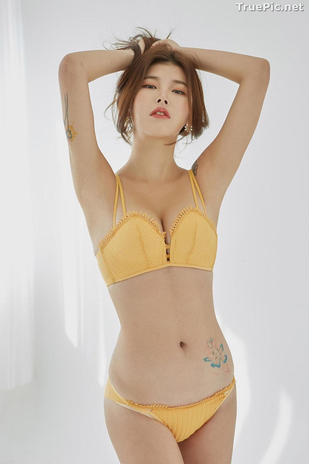 Image Korean Fashion Model – Da Yomi (다요미) – Lountess Spring Lingerie #3 - TruePic.net - Picture-1
