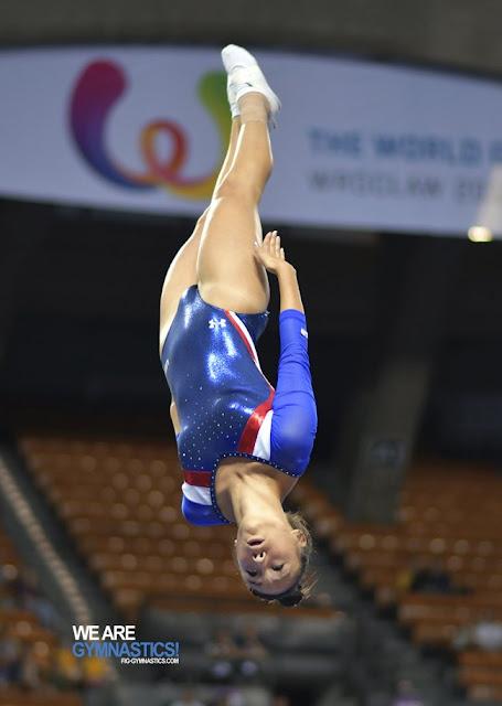 Paige Howard dio una de las medallas de oro a Estados Unidos en la gimnasia de trampolín de los Juegos Mundiales 2017