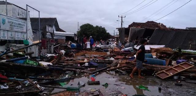 Desa Sumur Pandeglang Cukup Parah Terdampak Tsunami