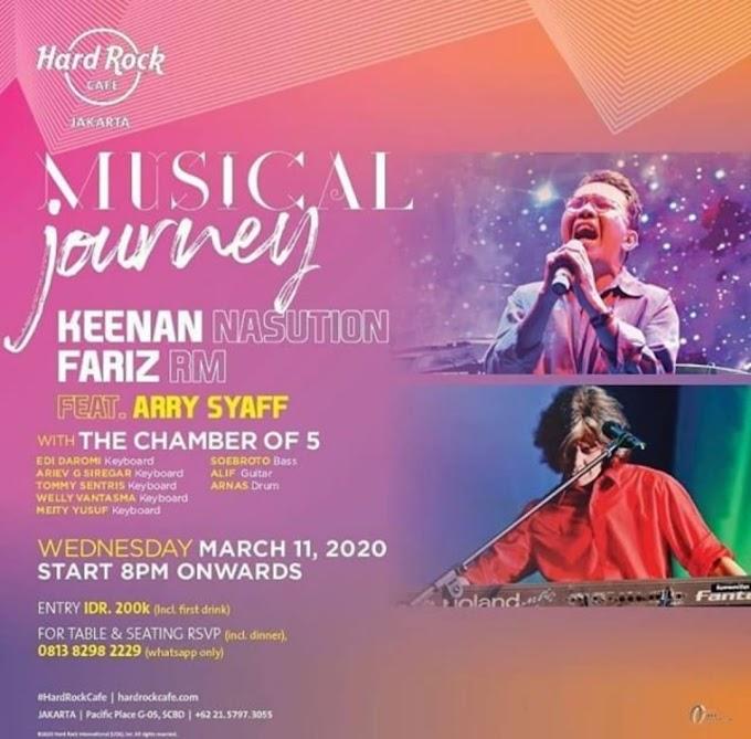 Musical Journey Keenan Nasution & Fariz RM - Hardrock Cafe