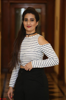 Manjusha in sleevelss crop top and black skirt at Darshakudu pre release ~ Exclusive Celebrities Galleries