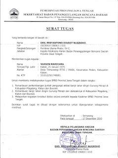 Surat Tugas Perjalanan Dinas Perusahaan