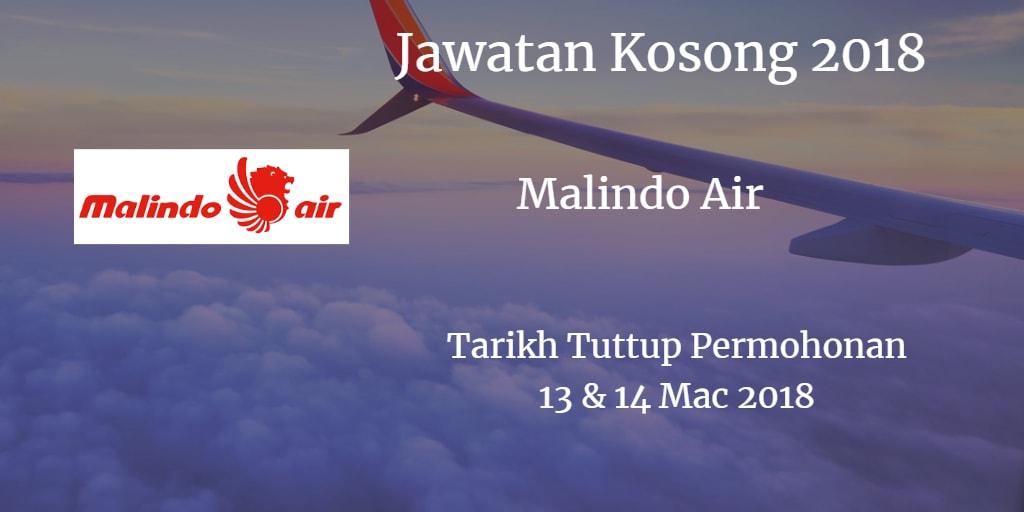 Jawatan Kosong Malindo Air 13 & 14 Mac 2018