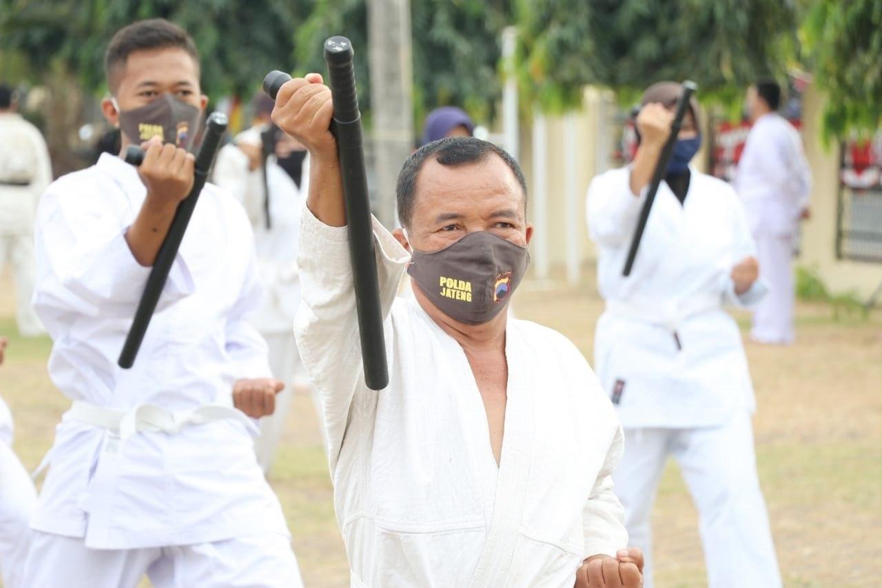 Tiga Hari, Anggota Polres Kebumen Ikuti Ujian Beladiri