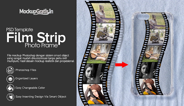 PSD Template Frame Foto Film Strip