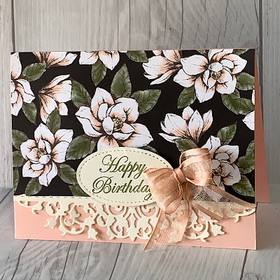 Card using Magnolia Blooms Stamp Set from Stampin' Up!