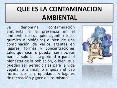 que es la contaminacion ambiental