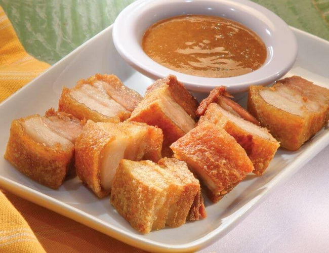 Xvlor Lechon kawali is boiled-fried pork belly dish by Filipinos