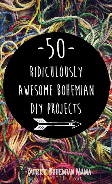 50 Exquisite DIY Bohemian Projects {DIY boho hippie home decor, bath & beauty, jewelry, clothing & accessories} Bohemian Crafts, DUY bohemian. #boho #diyboho #bohemian #bohowedding