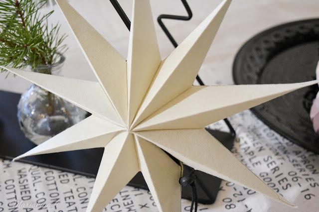 piironki paperikoriste tähti pallo joulukoriste joulu joulunodotus sisustus koti asetelma kuusi
