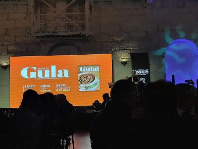 Ecrã mostrando a revista Gula