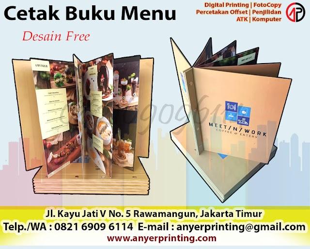 Cetak Buku Menu Restoran Express Rawamangun Jakarta