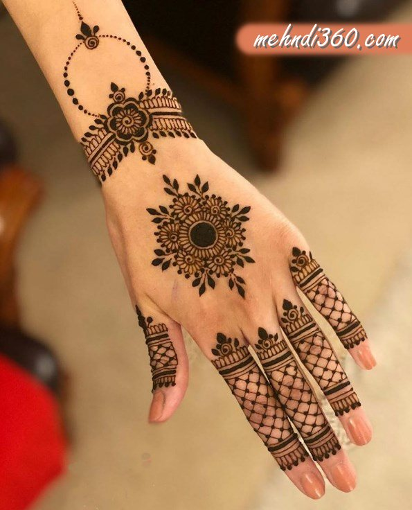 Arabic New Mehndi Design Back Hand