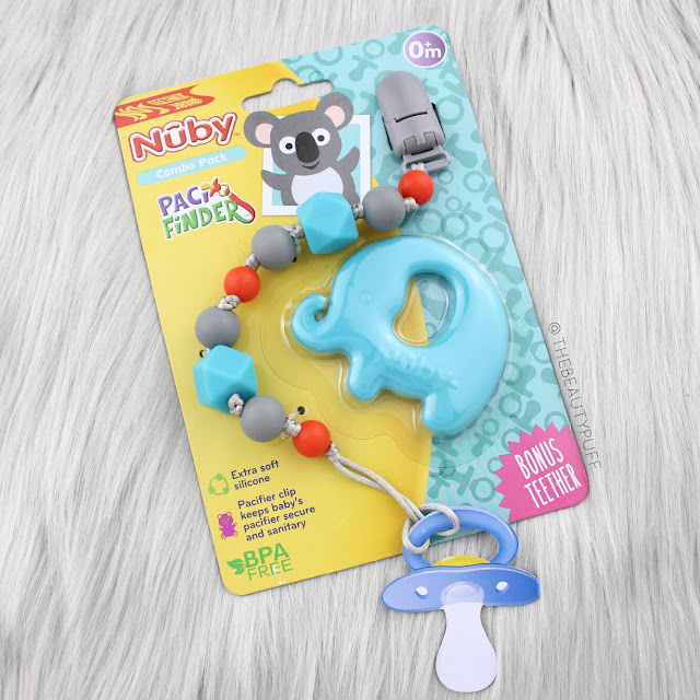 Nuby Pacifinder + Bonus Teether  |  The Beauty Puff