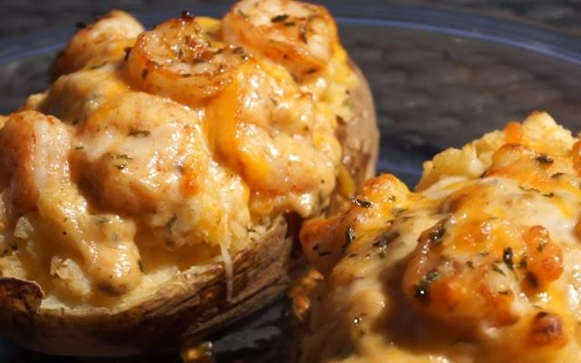 Seafood Stuffed Potatoes #dinner #recipes