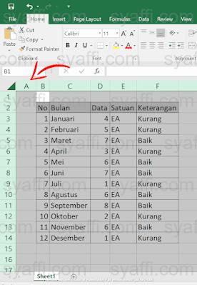 Cara Unhide Excel