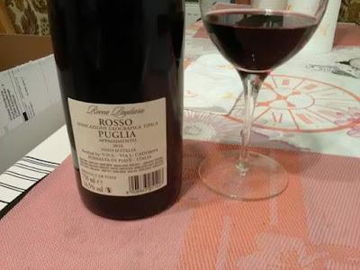Rocca Pagliara , #appassimento, #rosso, #igt #puglia, #Italia, 14,5 grados, #Cadorna, trasera