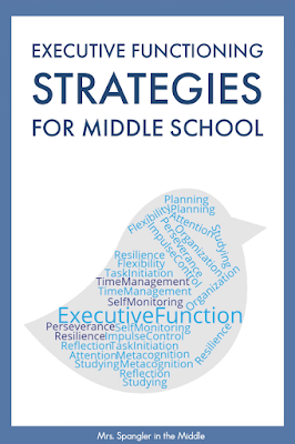 Executive Functioning Skills - what are they and should you be teaching them in your middle or high school classroom?  #strategies #skills #activities