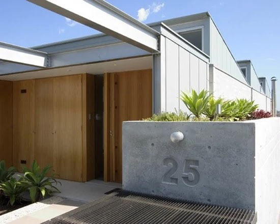 desain nomor rumah minimalis