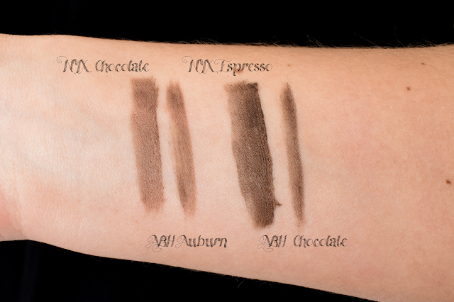 Anastasia Beverly Hills Dipbrow Pomade vs. NYX Tame&Frame Tinted Brow Pomade dupe swatches