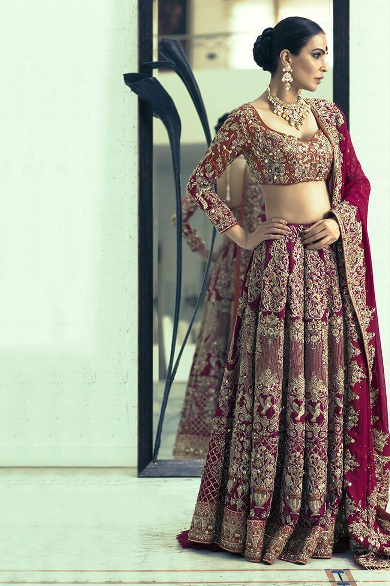 Shamsha Hashwani Lehenga Choli for Pakistani Weddings