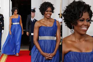 vestidos azul para negras